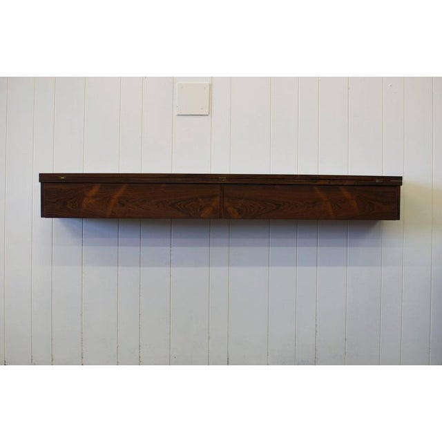 Mid-Century Modern Flip Top Rosewood Console by Arne Hovmand-Olsen For Sale - Image 3 of 8