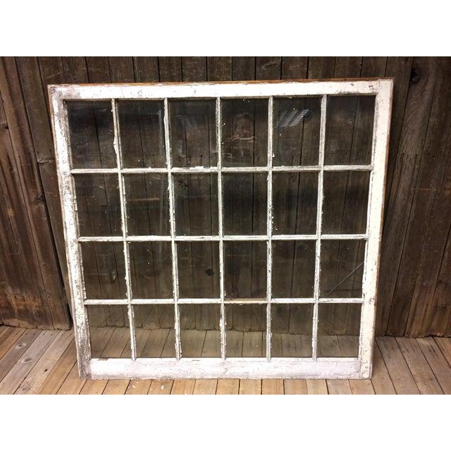 Vintage 24 Pane Wood Window - Image 2 of 11