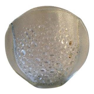 Vintage Swedish Glass Bubble Vase For Sale
