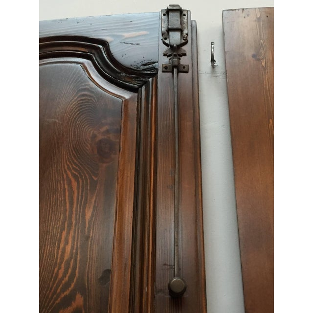 Iron Set of Two French Provincial Country Interior Doors For Sale - Image 7 of 10