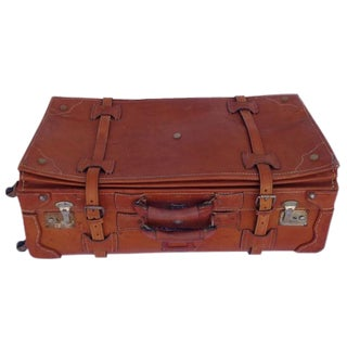 Vintage Leather Suitcase Trunk