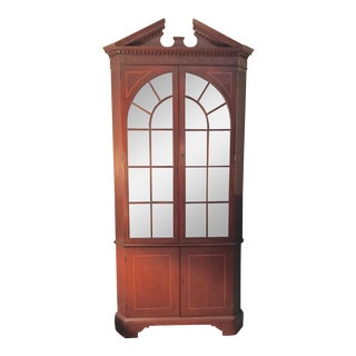 Statton Cherry Corner Cabinets - A Pair