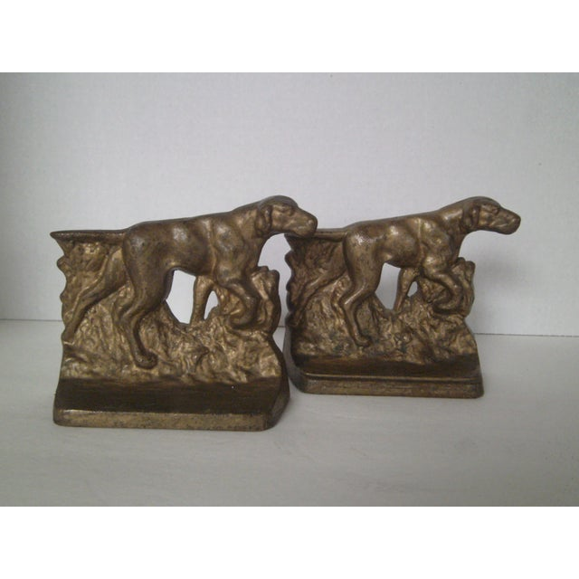 1920s Bronze Pointer Bookends - A Pair - Image 2 of 6