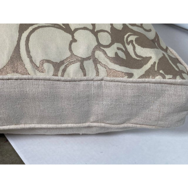 Fortuny Contemporary Fortuny Bronze and Cream Pillow For Sale - Image 4 of 6