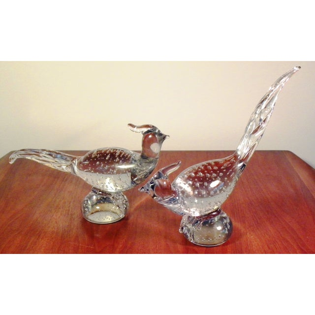Art Glass Pheasant Figurines - A Pair - Image 3 of 5