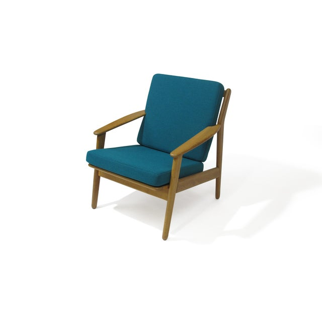 Danish Modern Poul Volther Danish Oak Lounge Chair For Sale - Image 3 of 5