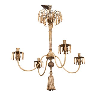 Custom Made Four Light Chandelier with Antique Elements For Sale