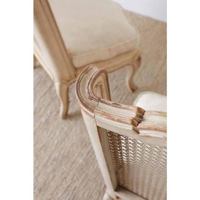 Pair of French Provincial Five-Leg Slipper Chairs For Sale - Image 9 of 13