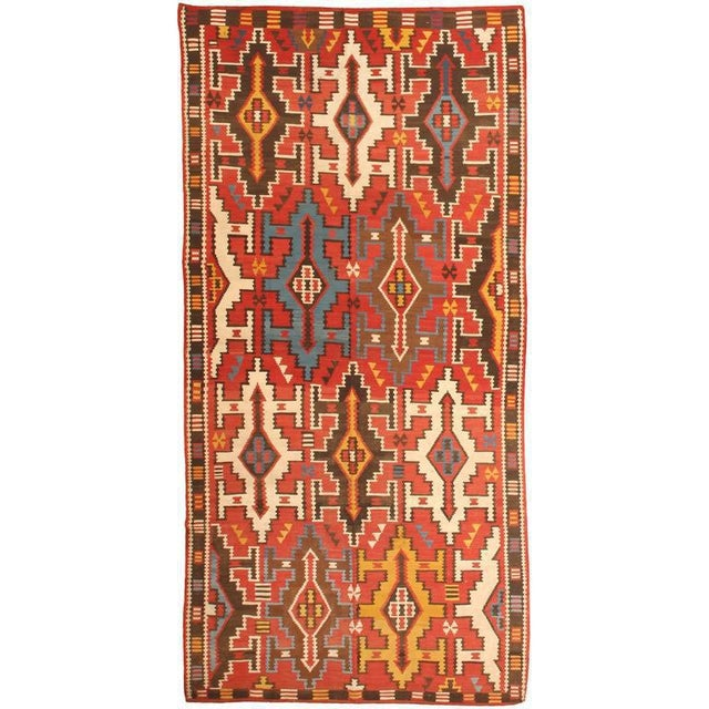 Antique 19th century Caucasian Kilim. Contact dealer Excellent condition.