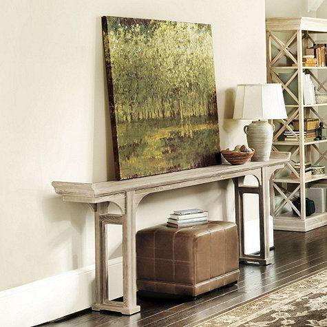 Ballard Designs Ananda Whitewash Elm Console Table   Chairish - photo#15