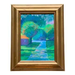 Original Contemporary Bright and Colorful Abstract Landscape For Sale