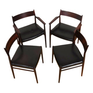 Danish Modern Rosewood Dining Chairs - Set of 4 For Sale