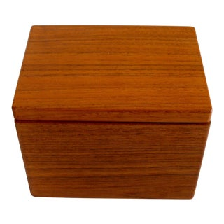 Kalmar Teak Recipe Box For Sale