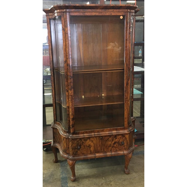 Antique Biedermeier Vitrine Cabinet w Exotic Mahogany This lovely Cabinet is a genuine antique and dates to the 19th...