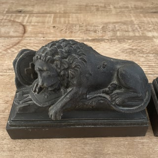 Antique French Lion Bronze Bookends- a Pair Preview