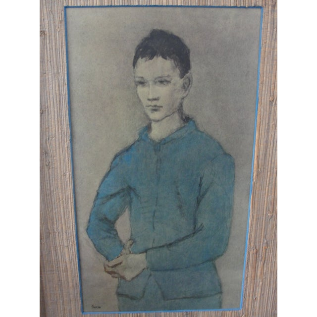 Pablo Picasso Vintage Lithograph Blue Boy by Pablo Picasso For Sale - Image 4 of 11