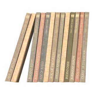 "Vintage Linen Book Set ""Great Ages of Man"" - Set of 13 For Sale"