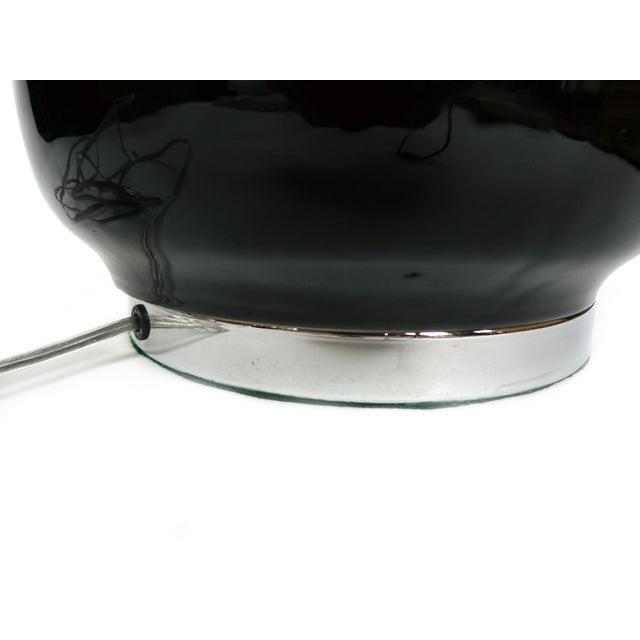 1960s Murano Black Ceramic Lamps - a Pair - Image 7 of 7