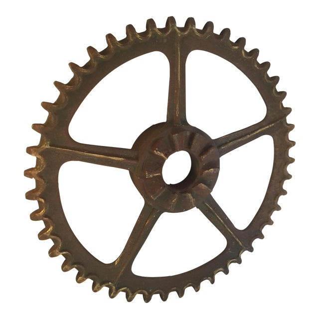 Antique California Gold Country Mining Sprocket - Image 1 of 7