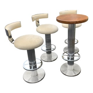 Design for Leisure Pub Table With Barstools For Sale