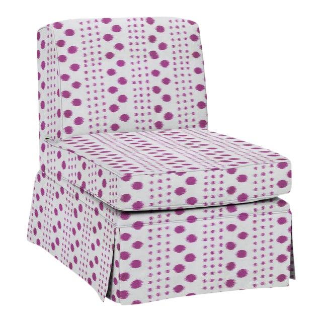 Virginia Kraft for Casa Cosima Slipper Chair, Polkat, Rose For Sale