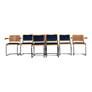 Marcel Breuer Cesca Dining Chairs - Set of 8 For Sale