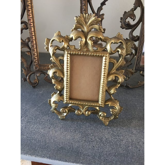 Vintage Roccoco Victorian Brass Frames - Set of 4 For Sale In Los Angeles - Image 6 of 8