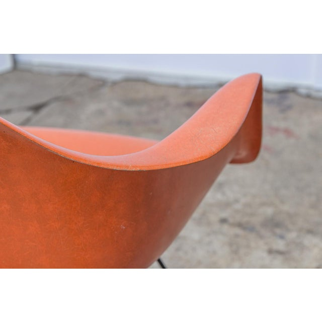 Eames Molded Fiberglass Armchair in Orange For Sale - Image 9 of 10