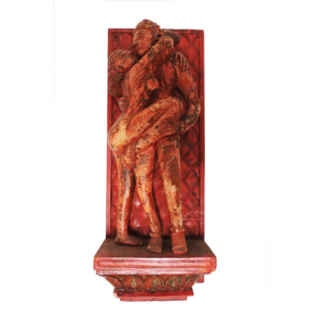 Late 20th Century Erotic Kama Sutra Wood Wall Carving For Sale - Image 5 of 5