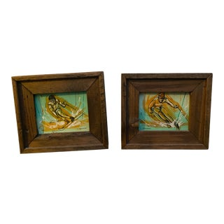 L.Newman Acrylic Paintings - a Pair For Sale