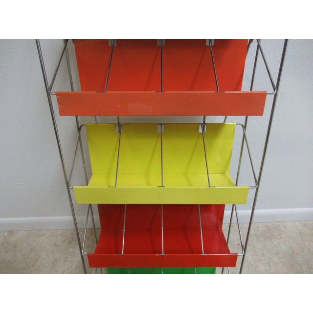 Vintage Chrome Multicolor Book Rack - Image 7 of 11