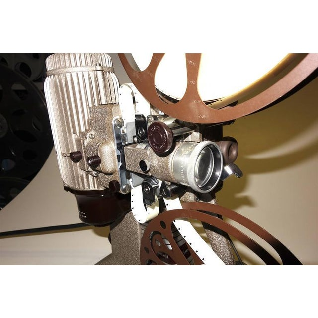 16mm Vintage Movie Projector Circa 1940. Rare Sculpture Piece For Media Room Display. For Sale - Image 4 of 8
