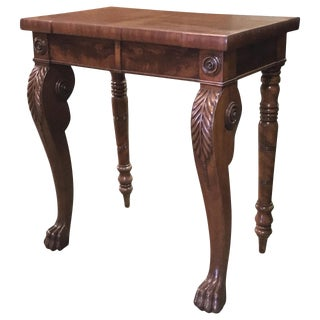 1840s English Traditional Mahogany Console Table For Sale
