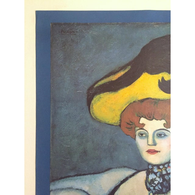 """Pablo Picasso Pablo Picasso Vintage 1985 Lithograph Print Exhibition Poster """" Courtesan With Jeweled Collar """" 1901 For Sale - Image 4 of 13"""