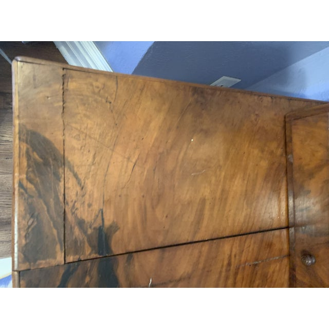 Black Antique French Louis Philippe Walnut Desk 19th C For Sale - Image 8 of 12