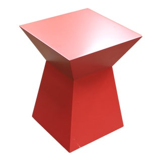 Bolier Red Geometric Side Table For Sale