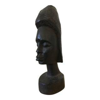 Vintage Tribal Carved Bust