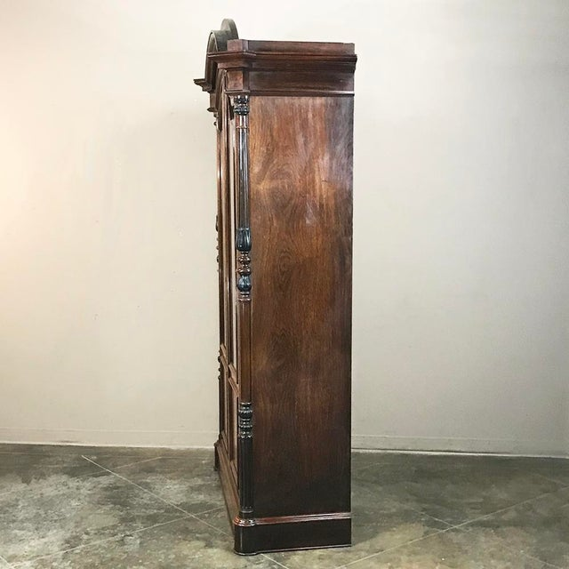 19th Century French Louis Philippe Rosewood Bookcase For Sale - Image 10 of 12