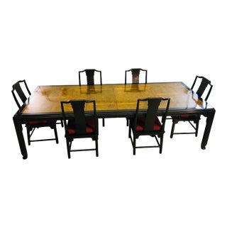 Chin Hua Dining Room Table Set by Ray Sabota for Century Furniture For Sale