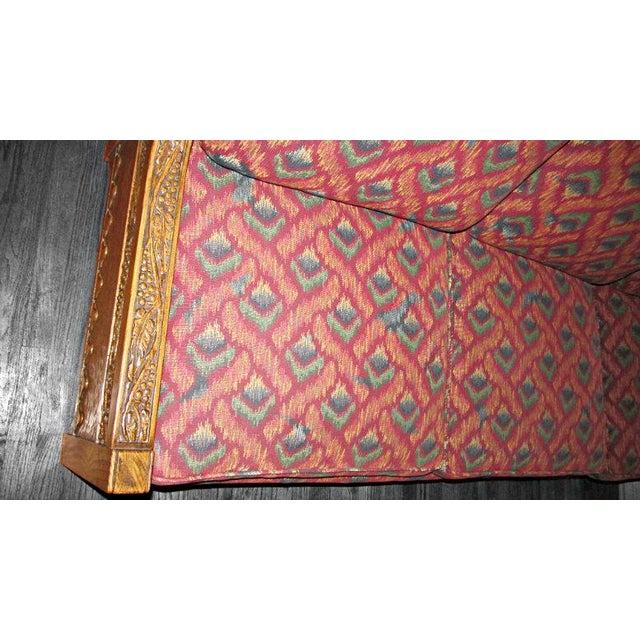 Romweber Viking Oak Carved Wood Low-Arm Sofa - Image 3 of 11