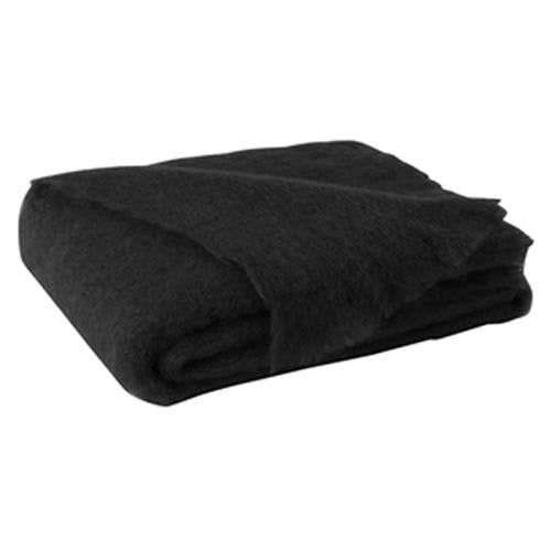Transitional Raven Brushed Mohair Throw For Sale - Image 3 of 3
