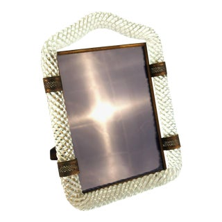 Venini Torciglione Glass Frame For Sale