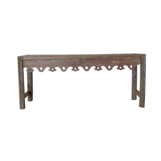 Vintage Reclaimed Wood Indian Console