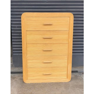 Vintage Pencil Reed Rattan Chest of Drawers Preview