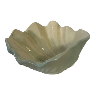 Large Ceramic Shell Bowl