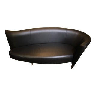 Mid-Century Modern Leather Surfboard Sofa For Sale