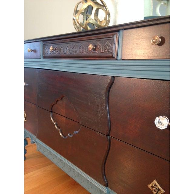 Refurbished Antique Wood Dresser With Mirror - Image 5 of 9 - Refurbished Antique Wood Dresser With Mirror Chairish