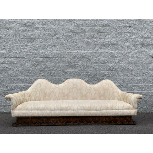 Mid Century Camelback Sofa For Sale - Image 9 of 9