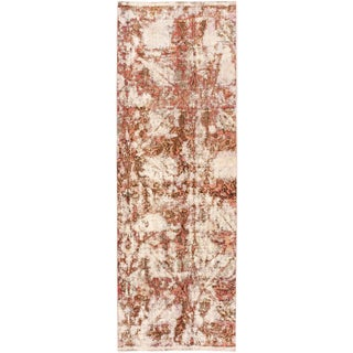 """Vintage Persian Distressed Rug, 3'2"""" X 9'00"""" For Sale"""