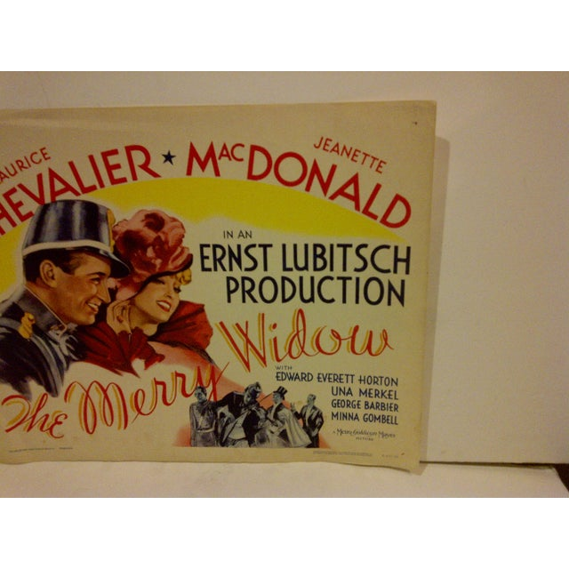 "1962 Vintage ""The Merry Widow"" Movie Poster, Starring Maurice Chevalier For Sale - Image 4 of 5"